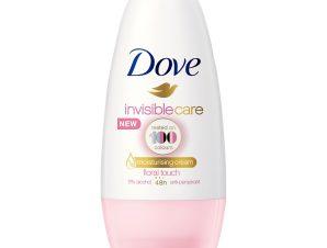 Dove Deo Roll On Invisible Care 48h Floral Touch Αποσμητικό 48ωρης Αντιιδρωτικής Προστασίας Χωρίς Λευκά Σημάδια στα Ρούχα 50ml