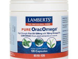Lamberts PURE OracOmega Συμπλήρωμα Διατροφής με Αντιοξειδωτικές Ιδιότητες – 120 tabs