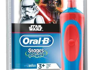 Oral B Παιδική Ηλεκτρική Επαν/ζόμενη Οδοντόβουρτσα Vitality Stages Power Star Wars 3+ Ετών