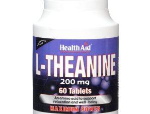 Health Aid L-Theanine 200mg Συμπλήρωμα Διατροφής Θειανίνης για την Υποστήριξη της Ηρεμίας του Νευρικού Συστήματος 60Tabs