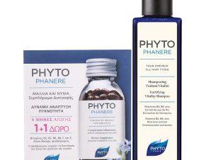Phyto Πακέτο Προσφοράς Phytophanere 2x120caps & Phytophanere Fortifying Vitality Shampoo 250ml