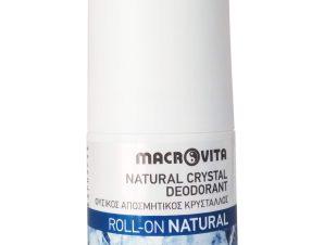 Macrovita Natural Crystal Deodorant Φυσικός Αποσμητικός Κρύσταλλος Roll-On Άρωμα Natural 50ml