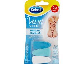 Dr Scholl Velvet Smooth Nail Care Heads Ανταλλακτικά 3τεμάχια,Ανταλλακτικά Ηλεκτρικού Συστήματος Περιποίησης Νυχιών για Περιποιη