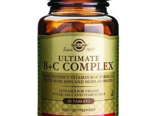 Solgar Ultimate B+C Complex Συμπλήρωμα Διατροφής Ισχυρή Αντιστρές Φόρμουλα tablets – 30 tabs