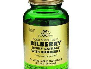 Solgar Sfp Bilberry Berry Extract With Blueberry Συμπλήρωμα Διατροφής για την Ενίσχυση & Ενδυνάμωση της Όρασης 60veg.caps