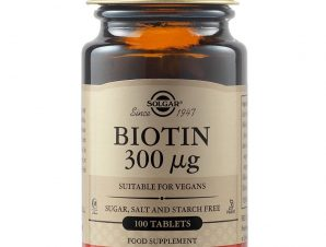 Solgar Biotin Συμπλήρωμα Διατροφής για την Υγεία Μαλλιών και του Δέρματος veg.caps – 300μg tablets 100 caps