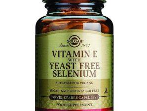 Solgar Vitamin E With Yeast-Free Selenium Συμπλήρωμα Διατροφής Βιταμίνης Ε σε Συνδυασμό με Σελήνιο veg.caps – 100 veg. caps