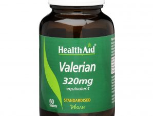 Health Aid Valerian Extract 320mg Φυσικό και Ασφαλές Ηρεμιστικό για την Αϋπνία 60Tabs